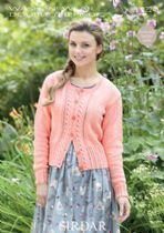 Sirdar Wash 'n Wear Double Crepe - 7224 Cardigan Knitting Pattern